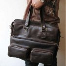 Unisex Notebook Leather Bag Tri Use - Sackpack/ Shoulder Bag/ Tote