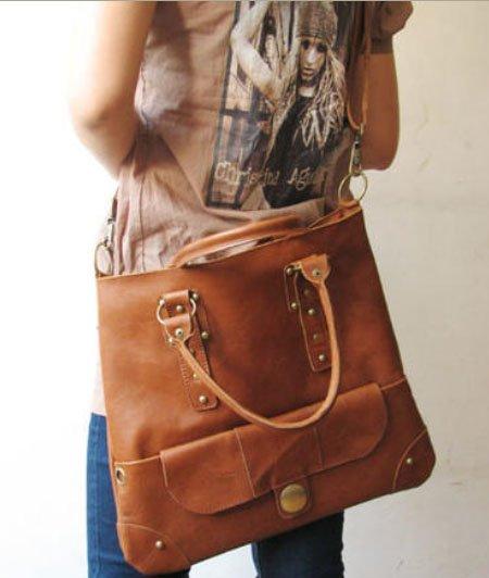Brown Color Shoulder or Tote Bag Detachable Strap