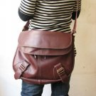 Wine Red Color Unisex Leather Shoulder bag