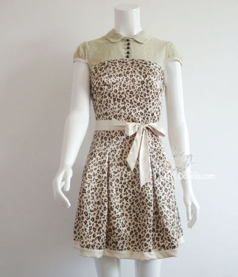 Leopard skin dress 2 colors.