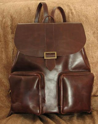 Smooth and Water proof Genuine Leather Brown Color Bag