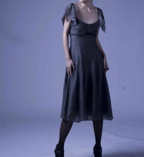 The sailor gray lotus dress