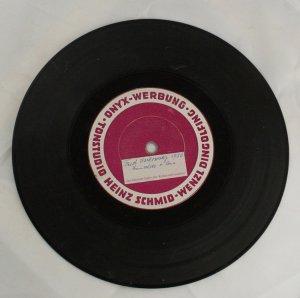 REAL RECORD MADE OF Vinyl Adhered to Metal German 1956