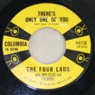 Four Lads/There's Only One of You/Blue Tattoo-Columbia Records-45 Vinyl