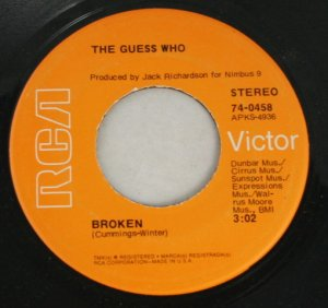 "The Guess Who ""Albert Flasher/Broken""  45 Vinyl"