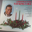 """Christmas With Nat King Cole""Record Album 33 RPM Vinyl"
