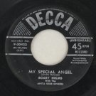 Bobby Helms-My Special Angel-Decca-45 Vinyl Record