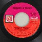 """Ferrante & Teicher 1969 """"Midnight Cowboy"""" 45 United Artists"""