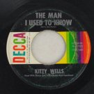 Kitty Wells-Carmel by the Sea-Decca-45 Vinyl Record