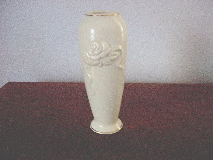 Lenox Vase 6 Quot Tall Handcrafted Embossed Rose Gold Trim