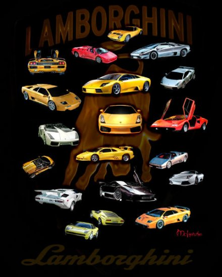 """LAMBORGHINI FOR LIFE""  Metallic Print (40 x 30)"