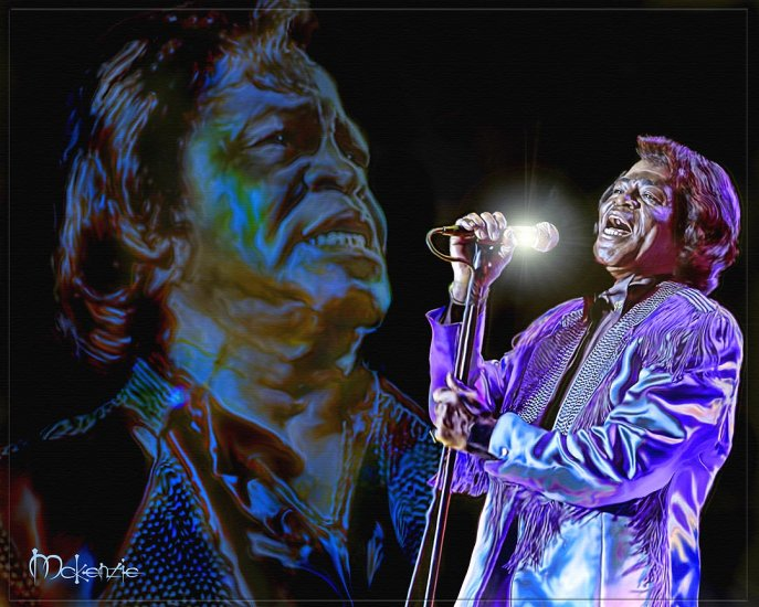 """GODFATHER"" James Brown by Artist McKenzie"