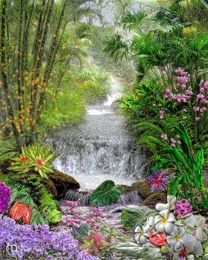 """""""JUNGLE WATERFALL"""" TO BENEFIT GLOBAL-COOL BY ARTIST MCKENZIE"""