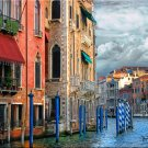 Canal with Gondola Poles Italian Italy PAINTING Oil Acrylic by McKenzie