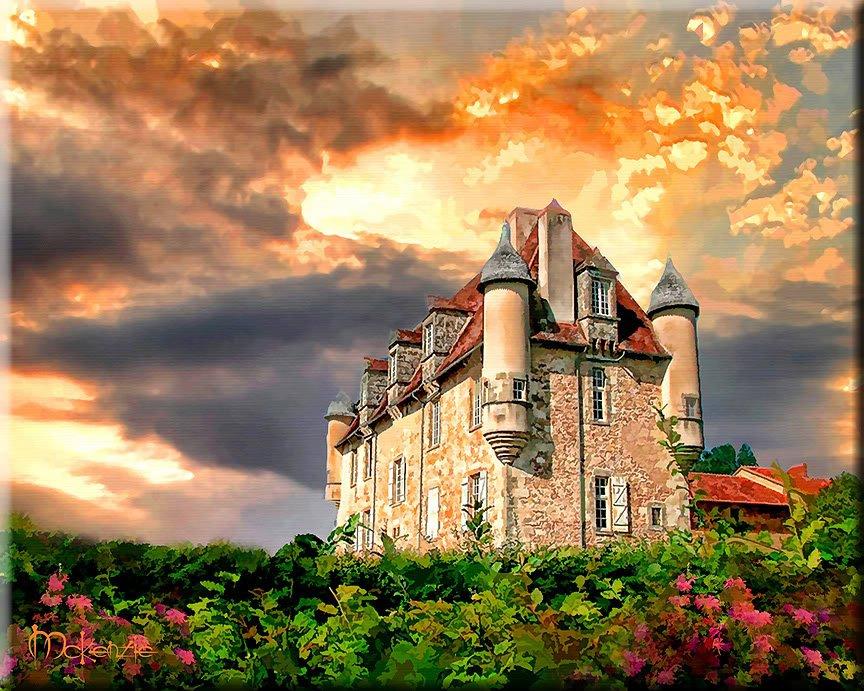 Chateau de la Borie French Series France ART PAINTING by McKenzie