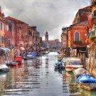 Tuscany Italy ART Burano Waterway Italian boat PAINTING