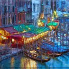 """Gondolas at the Cafes""  Metallic Print (16 x 20)"