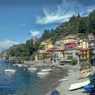 """AMALFI COAST"" by Artist McKenzie Tuscany Italian Shoreline Seashore Painting (32"" x 40"")"