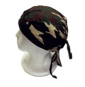 Woodland Camo Bandana Caps ( Ordered By the Dozens )