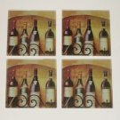 Tuscan Bottles of Wine Glass Coasters