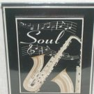 Soul music saxophone wall art plaque