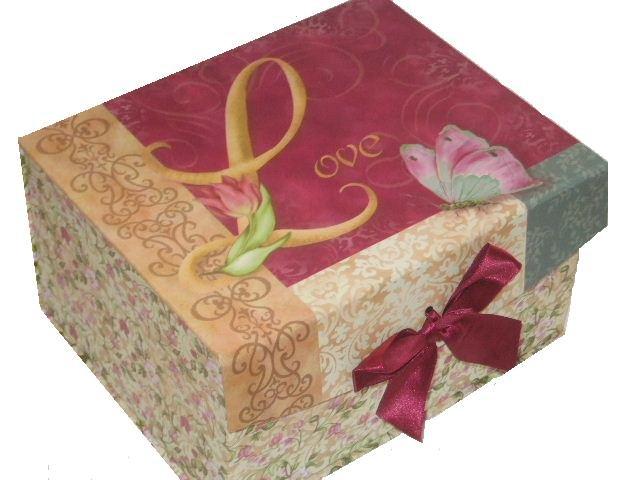 Love Trinket Jewelry Box Pink Floral Crafts Keeper