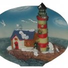 Lighthouse Winter Scene Home Accent Cornerstone Creations