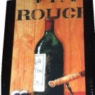 Vin Rouge Wine and Corkscrew Framed Print Wall Art