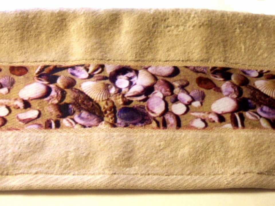 Seashells Hand Towels Beach Bath Decor