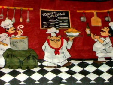 Fat Chefs Kitchen Curtains Set