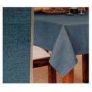 Aged Blue Loft Linen Tablecloth 52 x 70