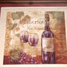 Merlot Wine Framed Picture Wine Themed Wall Decor