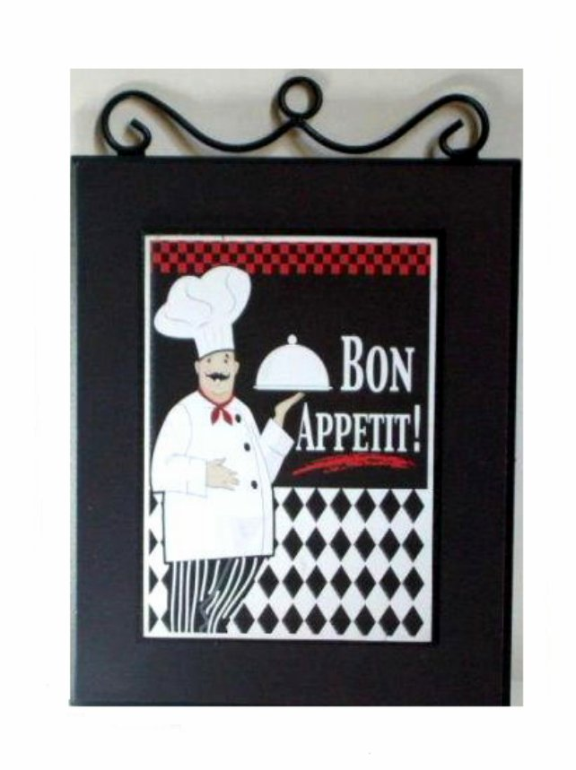 fat chef kitchen picture wall plaque chefs decor - Kitchen Chef Decorations