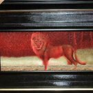 African safari lion picture framed jungle wall decor