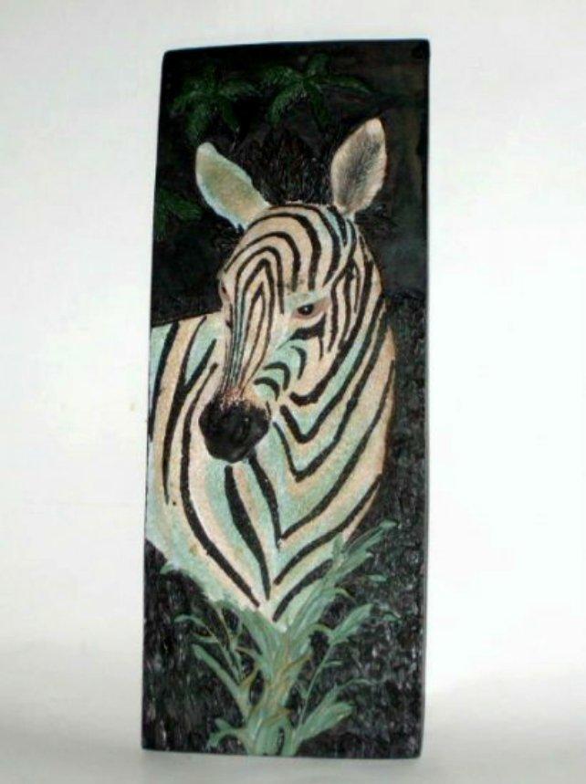Zebra Resin Wall Plaque Tile