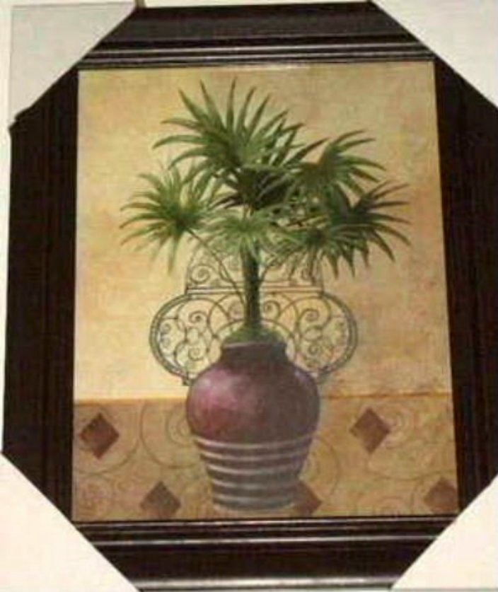 Potted Palm Tree Picture Wall Decor