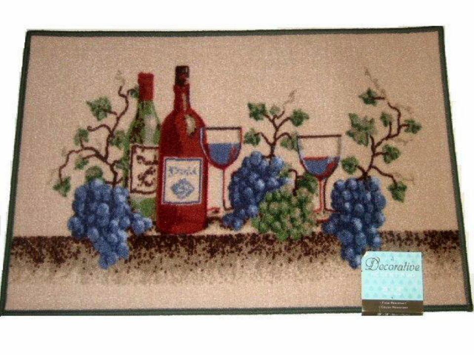Grapes Wine Napa Valley Kitchen Rug
