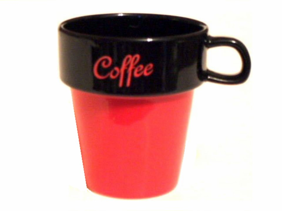 Red and Black Coffee Mugs Ceramic Cups