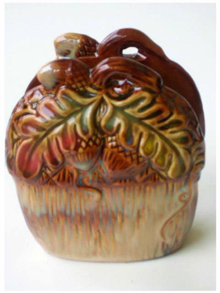 Ceramic Acorn Napkin Holder Autumn Kitchen Decor