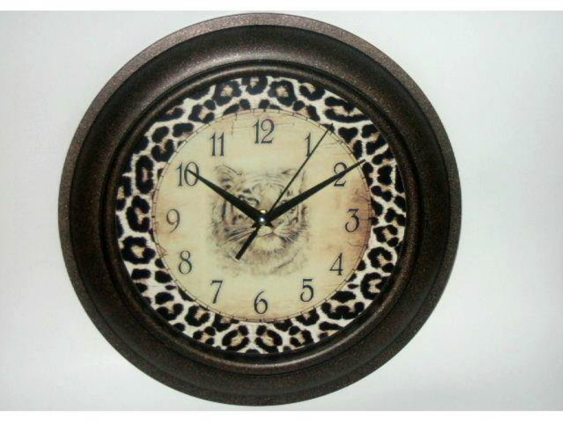 Tiger Wall Clock Safari Decor