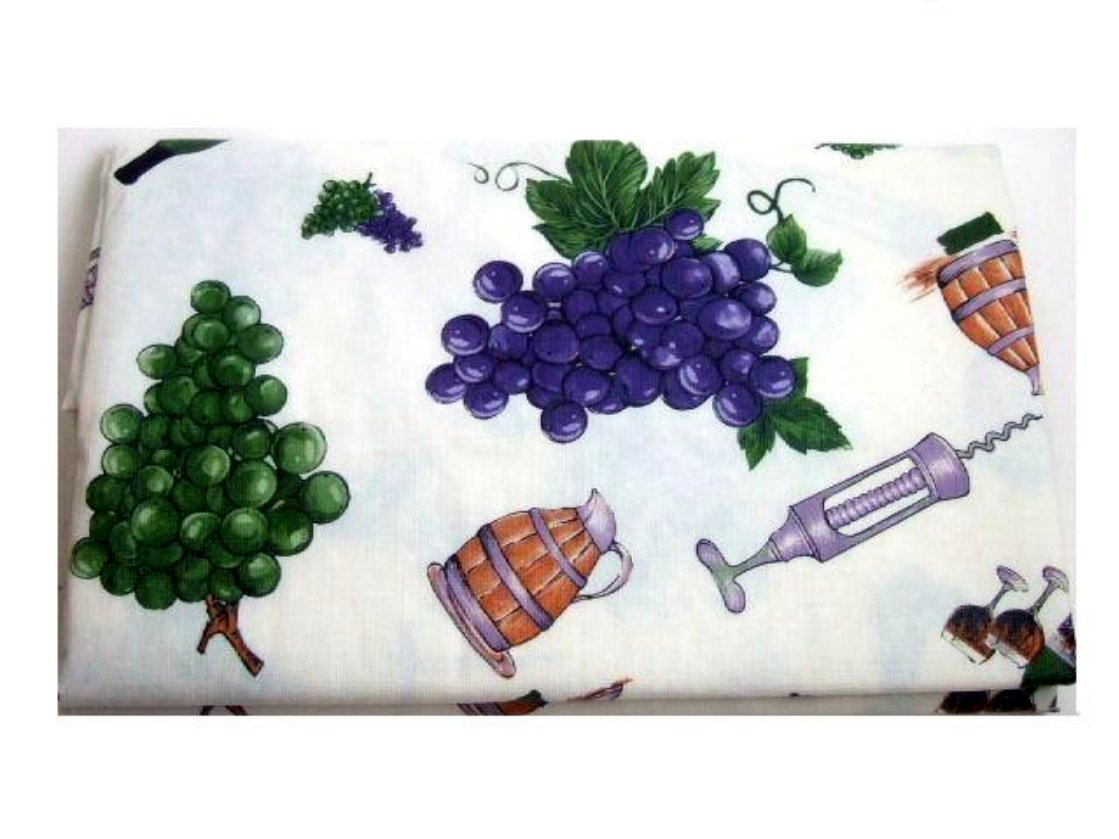 Tuscan Tablecloth Wine And Grapes