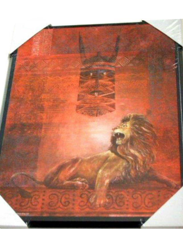 African Lion Plaque Wall Art