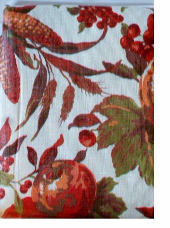 Pumpkins Fruit Leaves Autumn Tablecloth Round