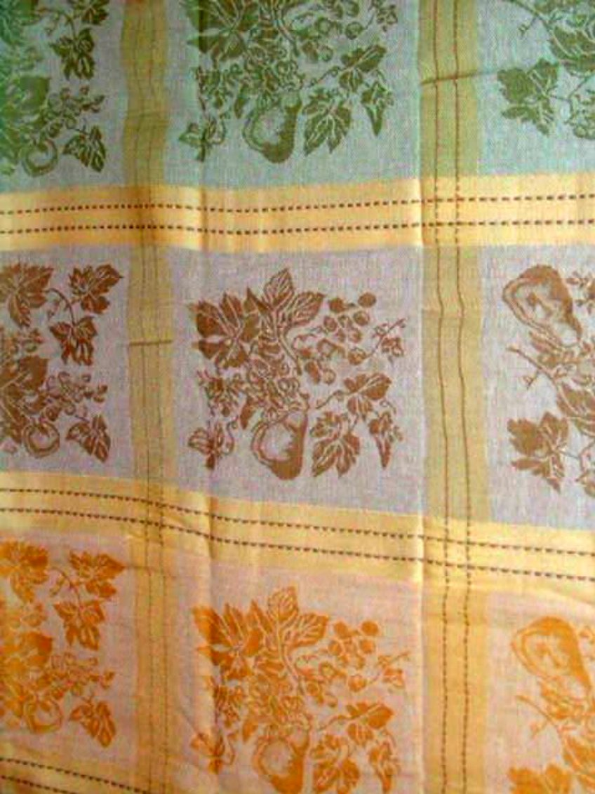 Pears and Leaf Blocks Spring Leaves Tablecloth