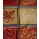 Autumn Leaves and Pumpkins Round Tablecloth