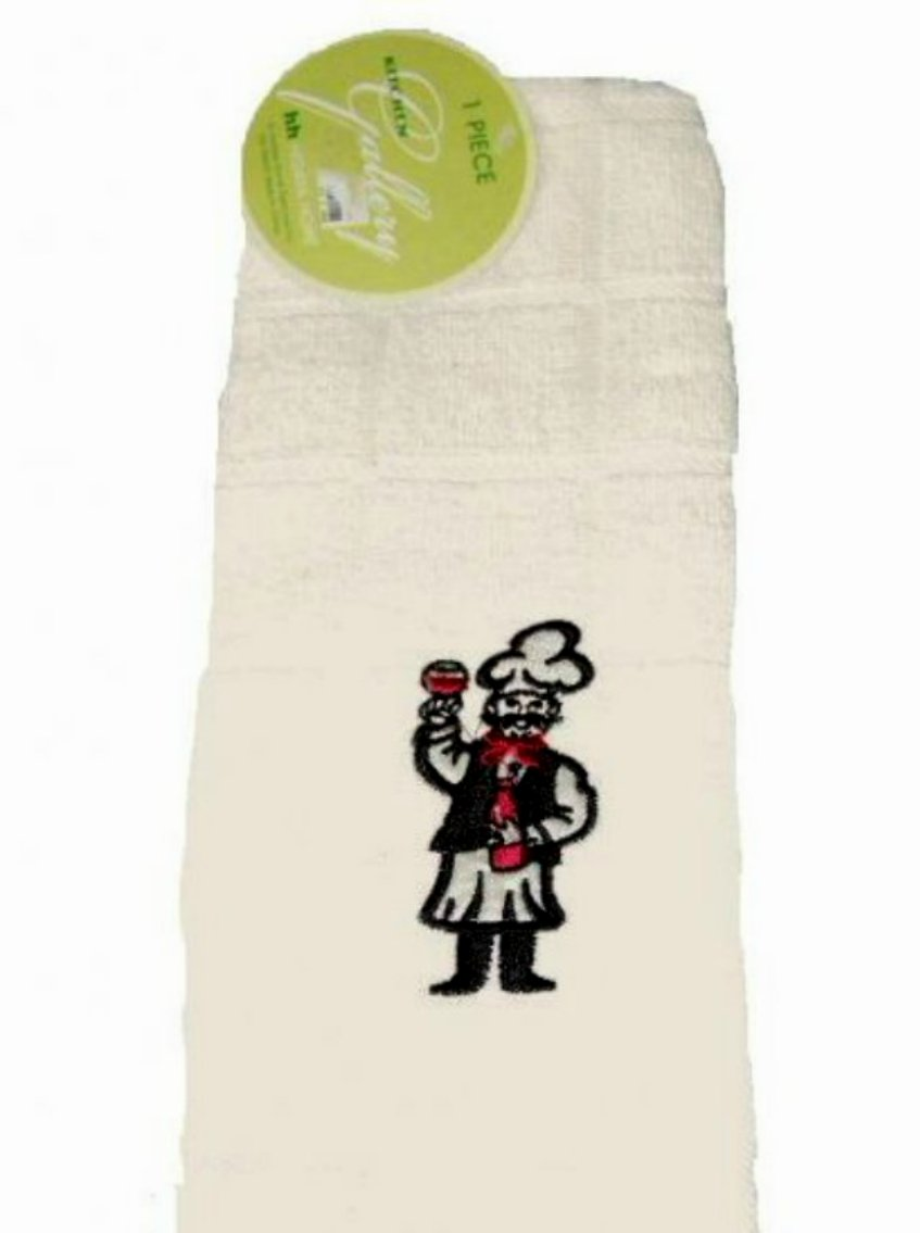 Embroidered Italian Chef Kitchen Towels