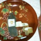 Tuscan Cake Plate and Server Wine and Grapes