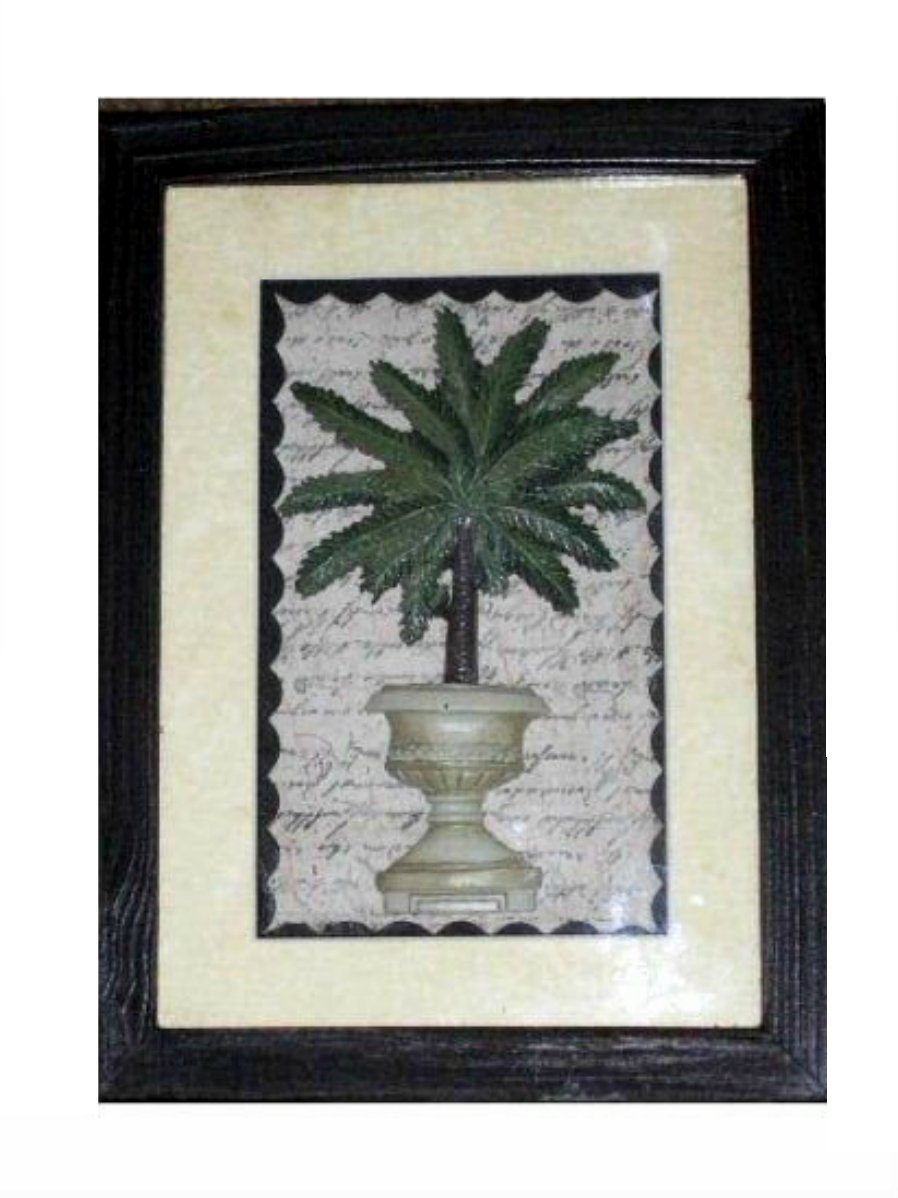 Palm Tree Picture Shadowbox Wall Art