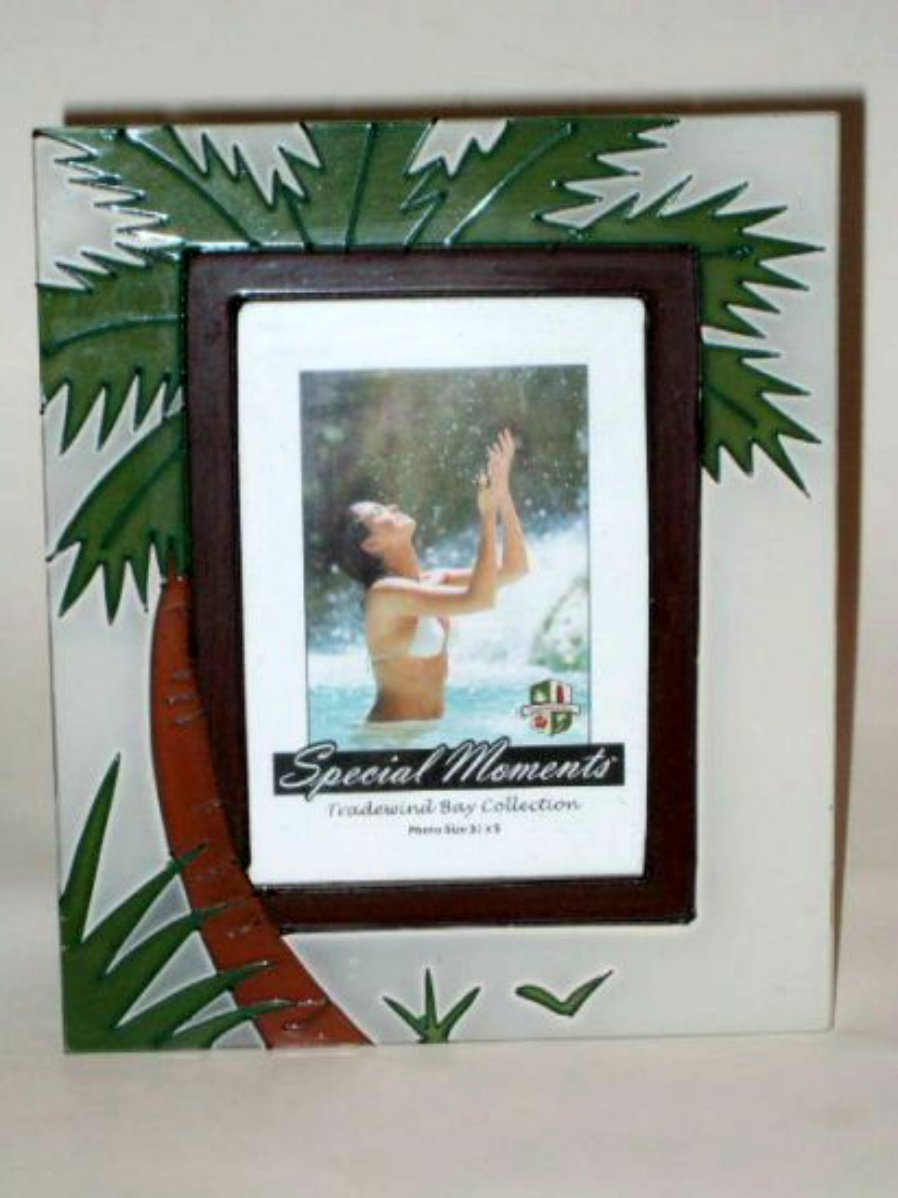 Tropical Palm Tree Glass Photo Picture Frame