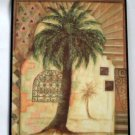 Tuscan Palm Tree Plaque Abstract Wall Decor